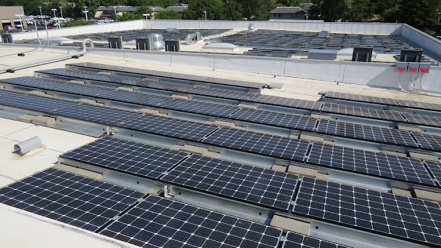 Energy panels covering every surface of our rooftops