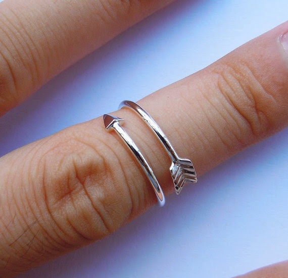 sliver arrow ring