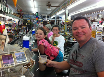 AT THE SODA FOUNTAIN IN APALACHICOLA