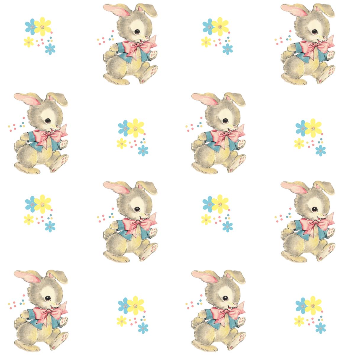 Free digital vintage bunny scrapbooking paper ...