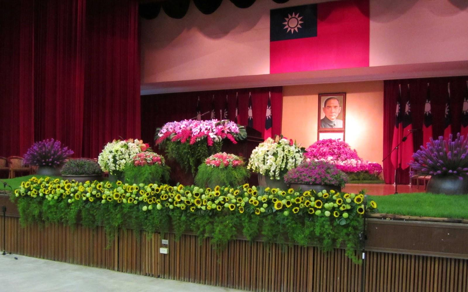 Agricultura en Taiwán: Arreglos florales en ceremonia de graduación