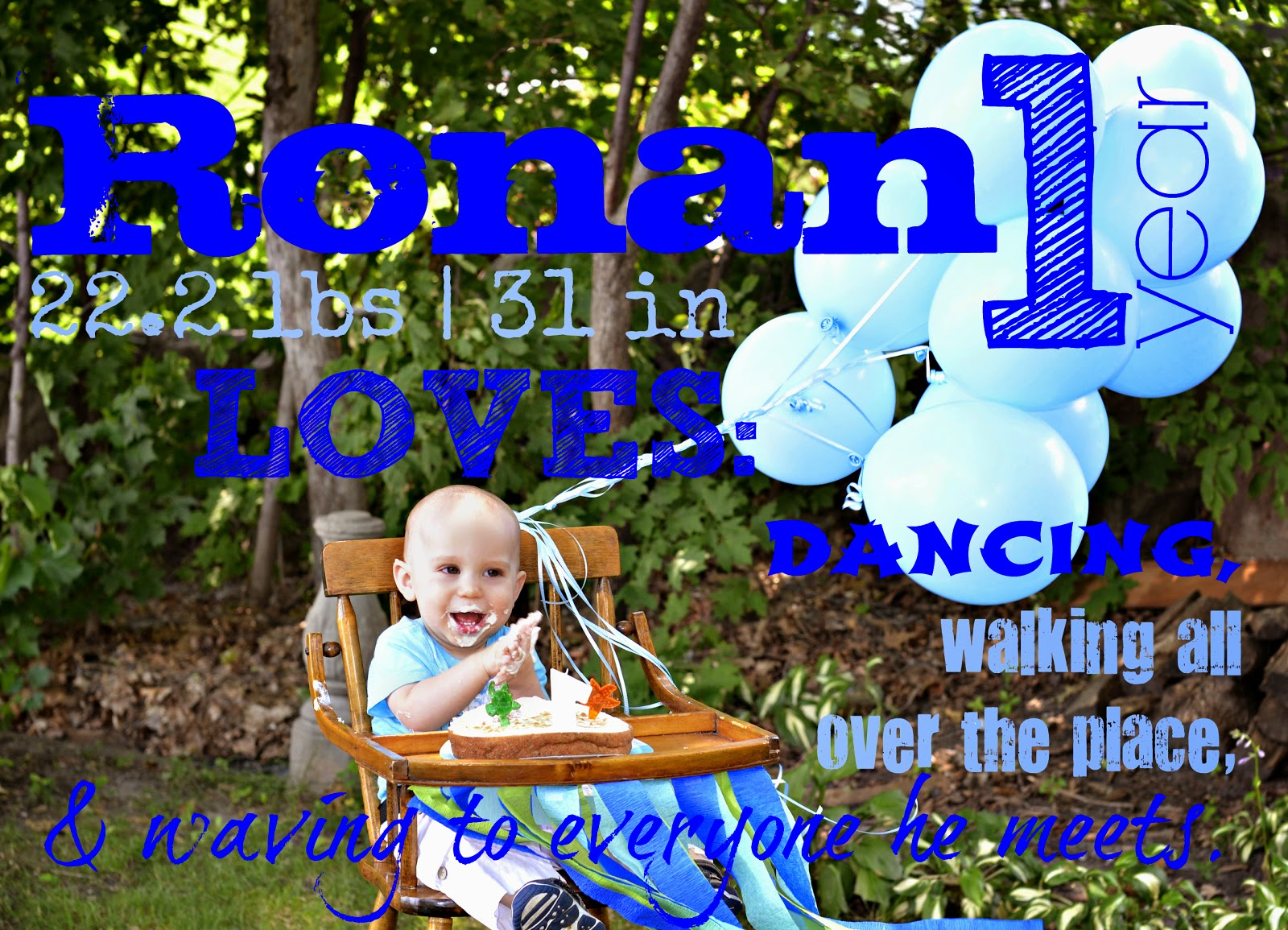 Ronan's first birthday pictures photography with words picture