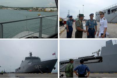 Kapal Perang TNI-AL KRI Banjarmasin dan KRI Lemadang Tiba di Brunei