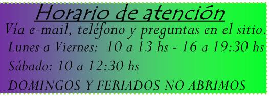 HORARIO DE ATENCION