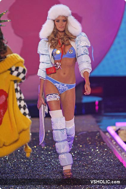 Candice swanepoel at the pink segment of the victoria s secret fashion