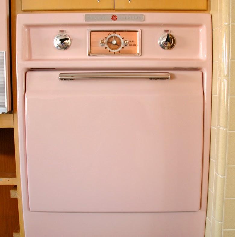 vintage kitchen, retro kitchen, pink kitchen, kitchen sixties