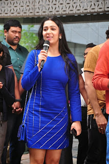 Actress Charmi Kaur Latest Pictures in Short Dress with R Rajkumar Movie Team at Yes Mart 0013