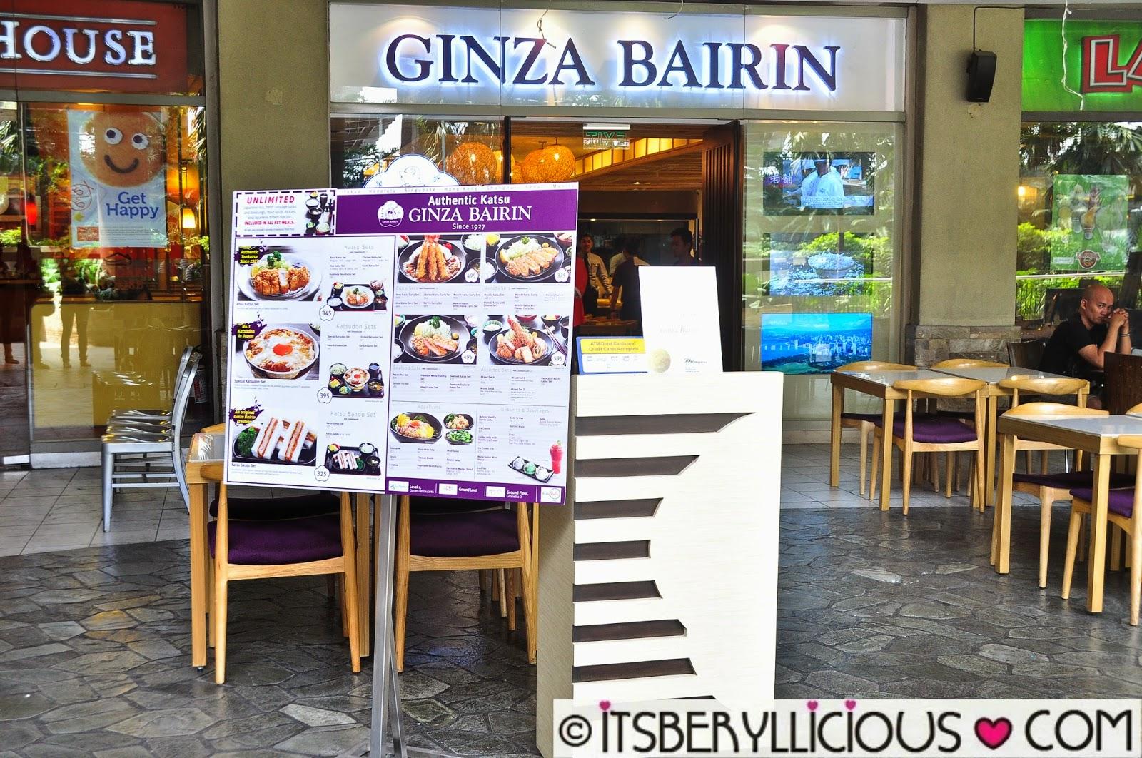 Ginza Bairin Trinoma Ginza Bairin Was The First