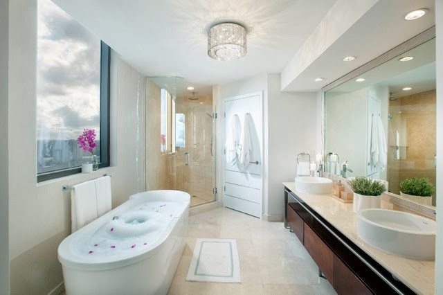 Flush mount bathroom lighting