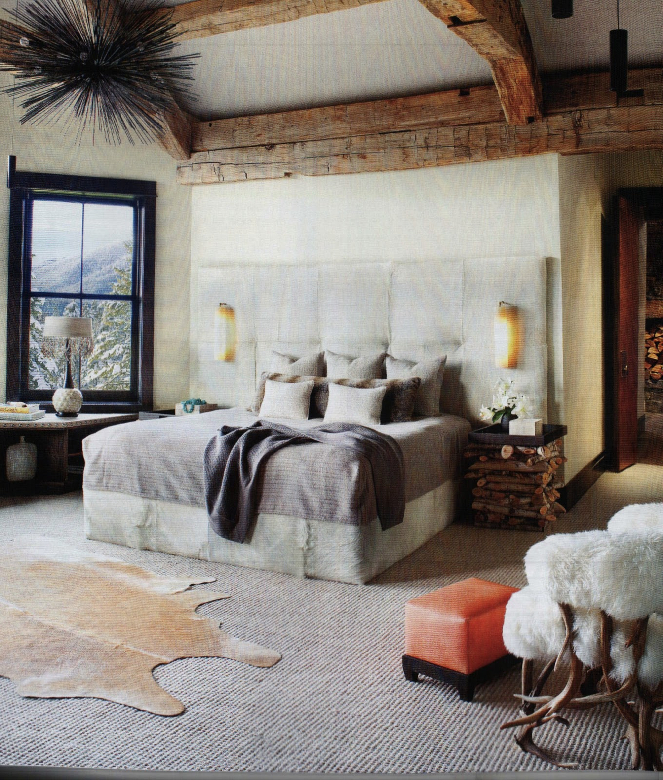 Luxe Mix In A Bedroom Rustic Glam Pinterest