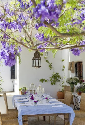 Spanish garden outdoor dining