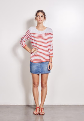 Hush Tipped Stripe Jumper
