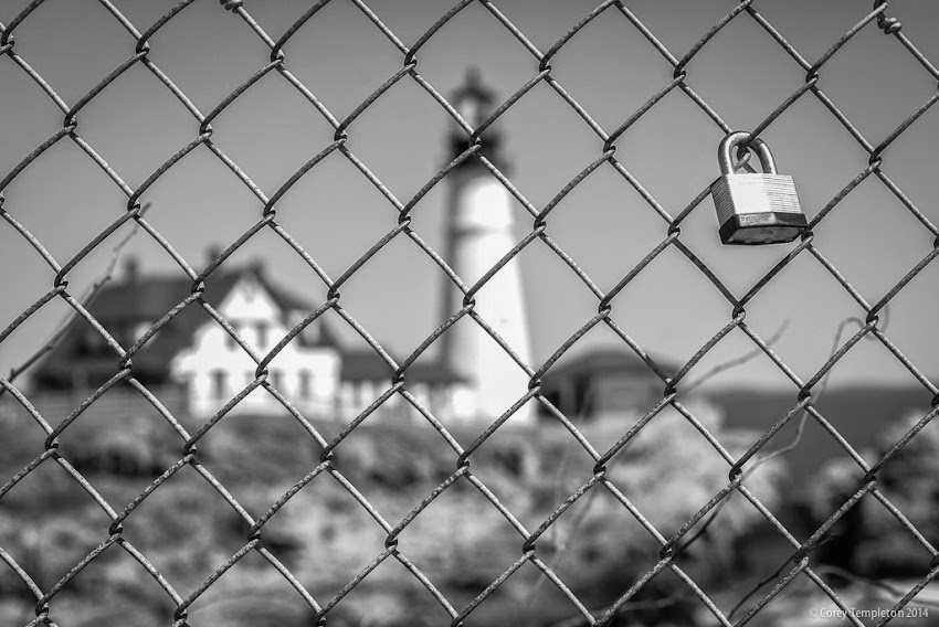 Portland, Maine Cape Elizabeth Portland Head Light Lighthouse fence photo by Corey Templeton