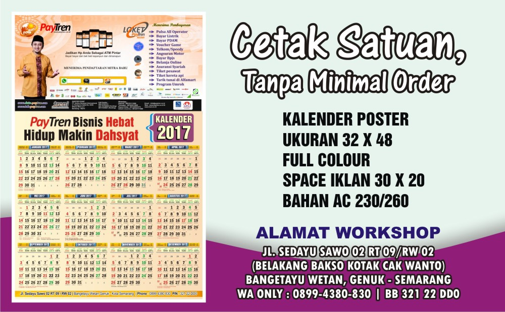 0899-4380-830 Kalender Poster