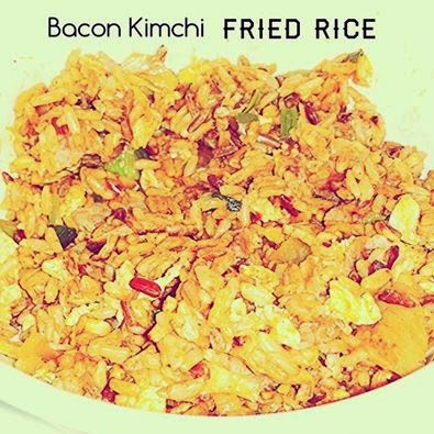 Life can be simple: Bacon Kimchi Fried Rice