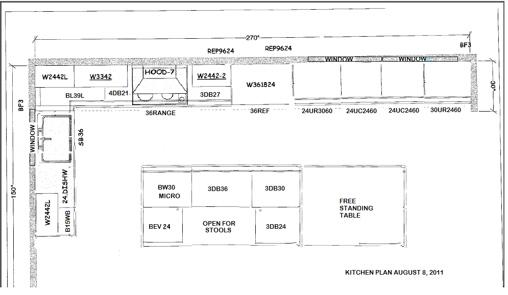 Layout For Kitchen Cabinets Afreakatheart