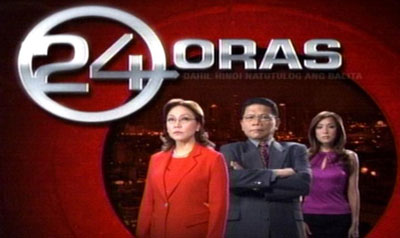24 Oras is the flagship national network news broadcast of GMA Network. A nightly national newscast which airs in the Philippines. Launched in 2004, it is one of the most...