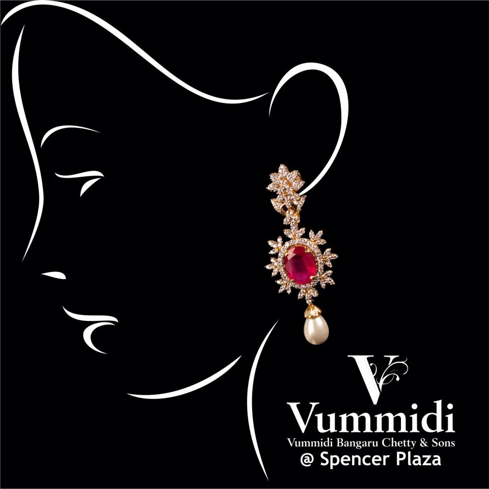 antique earring collection from vummidi bangaru jewellers