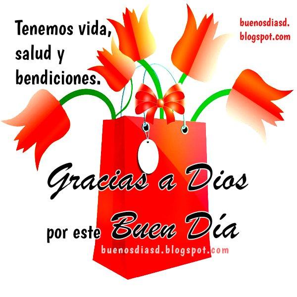 Frases de buenos días, sanación, sanidad, declaro salud, gracias a Dios con imagen bonita cristiana