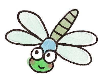 ギンヤンマのイラスト(トンボ・虫)