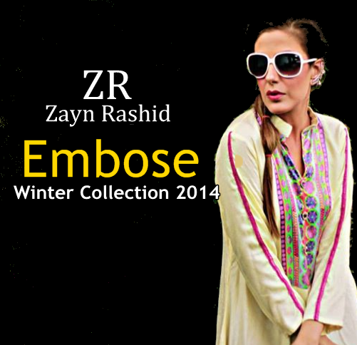 Zayn Rashid Embose-Winter Collection 2014-15