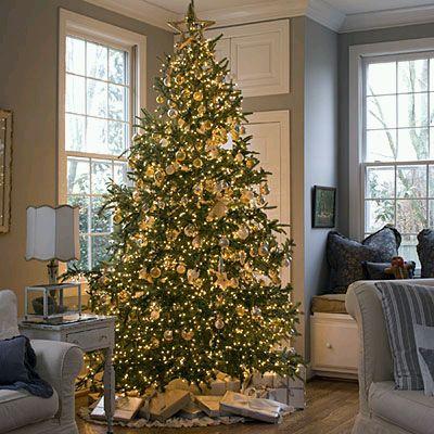 arboles de navidad dorados. Black Bedroom Furniture Sets. Home Design Ideas