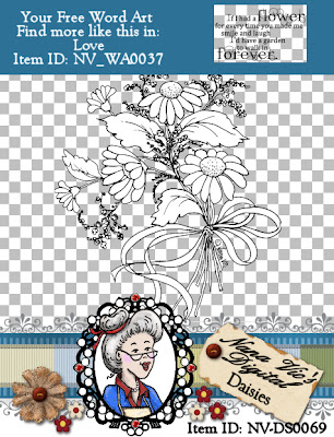 Daisies Digital Stamp
