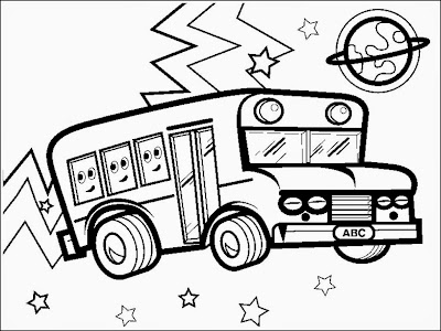 bus coloring pages to print