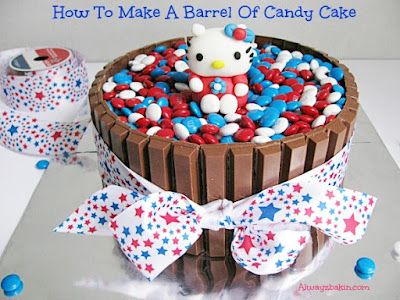 How To Make A Barrel Of Candy Cake