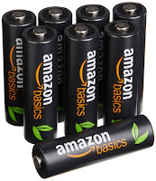 AmazonBasics AA High-Capacity Rechargeable Batteries (8-Pack)
