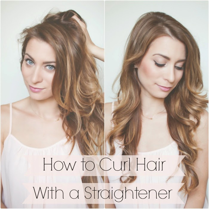 My Everyday Hair How To Curl Hair With A Straightener In 5 Minutes