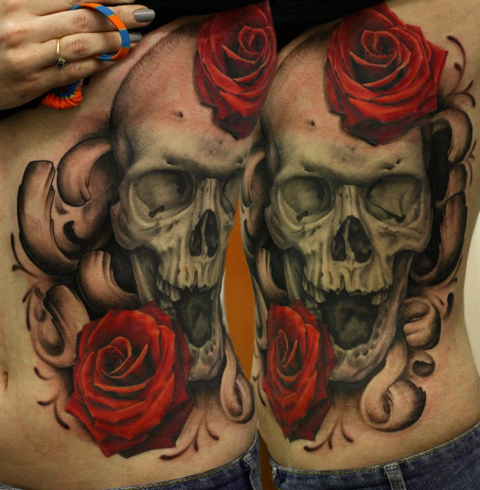 Photo bank tattoo calaveras for Rose and skull tattoos