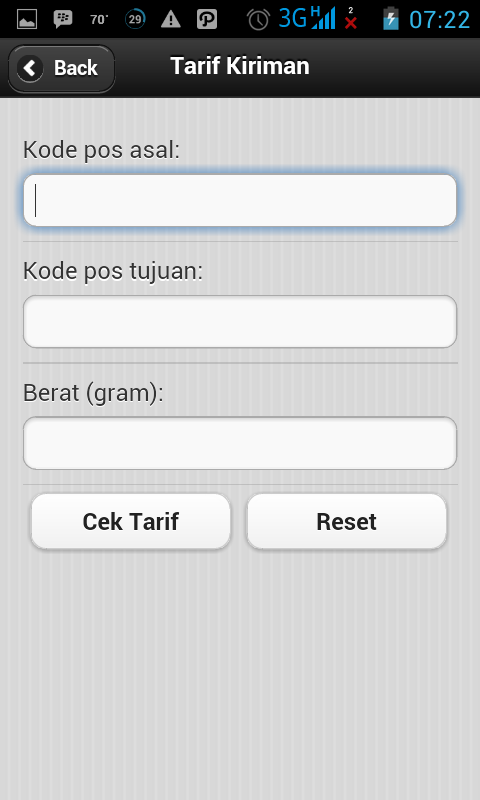 Melacak Kiriman Barang PT. Pos Indonesia Dengan Android 2