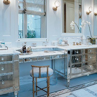 vanity with makeup station. And we can t talk about mirrored vanities without including some that To da loos  A vanity for every style bathroom