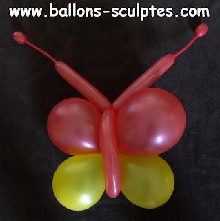 papillon en ballons