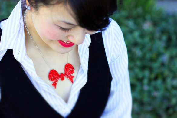 Mimco Red Bow Necklace