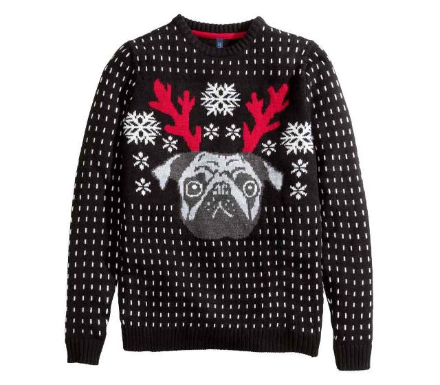 jersey de H&M con estampado navideño