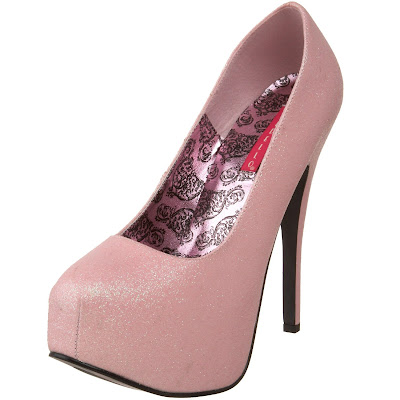 Bordellos glitter shoes pink 2014
