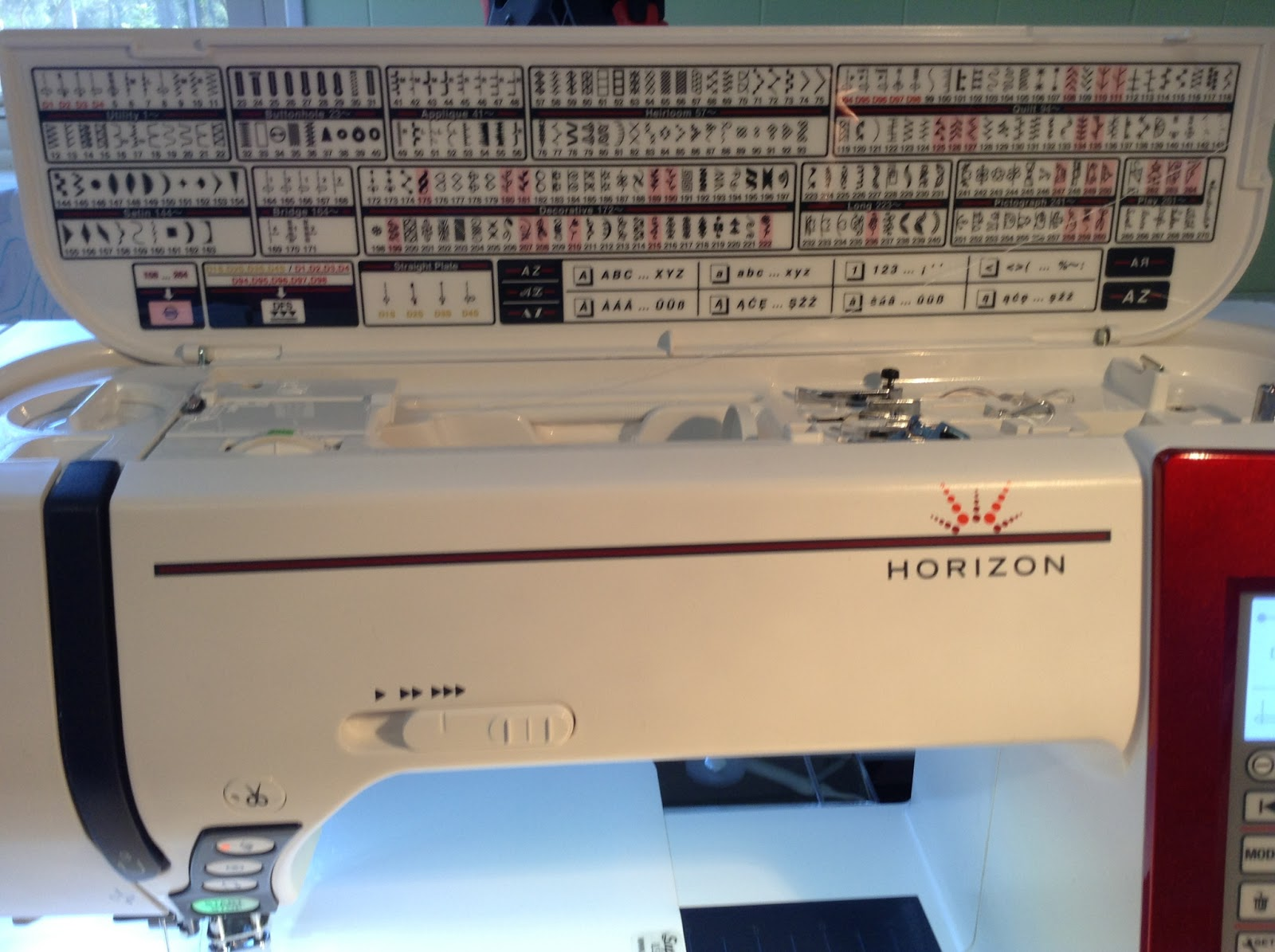 Janome horizon memory craft 8900 - Janome Horizon 8900 Red