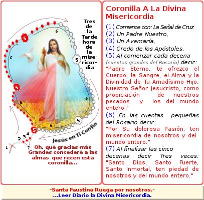 jesus con la coronia y rosario en español