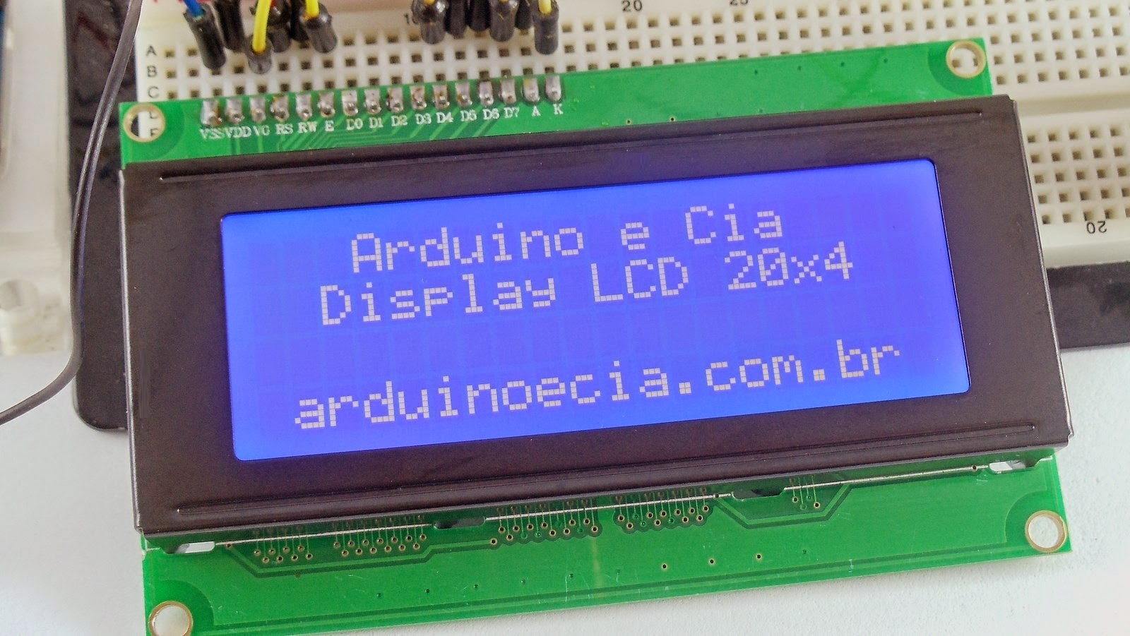 Display LCD 20x4 Arduino