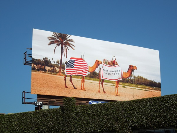 Marc Jacobs patriotic camels billboard