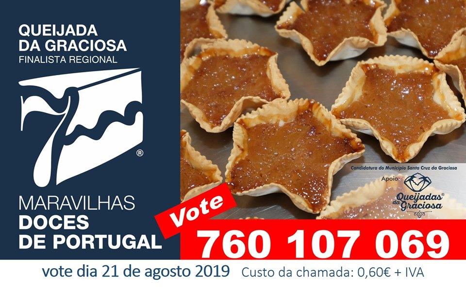 Queijadas da Graciosa em votação na repescagem do Concurso 7 Maravilhas Doces de Portugal