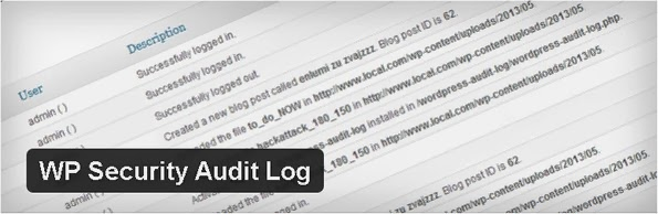 WP Security audit Log plugin for WordPress