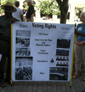 He was a protester at a July Moral Monday rally in Raleigh, N.C.