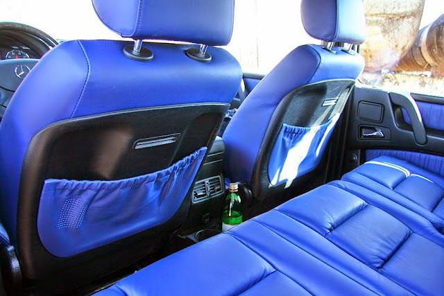 gelandewagen blue leather