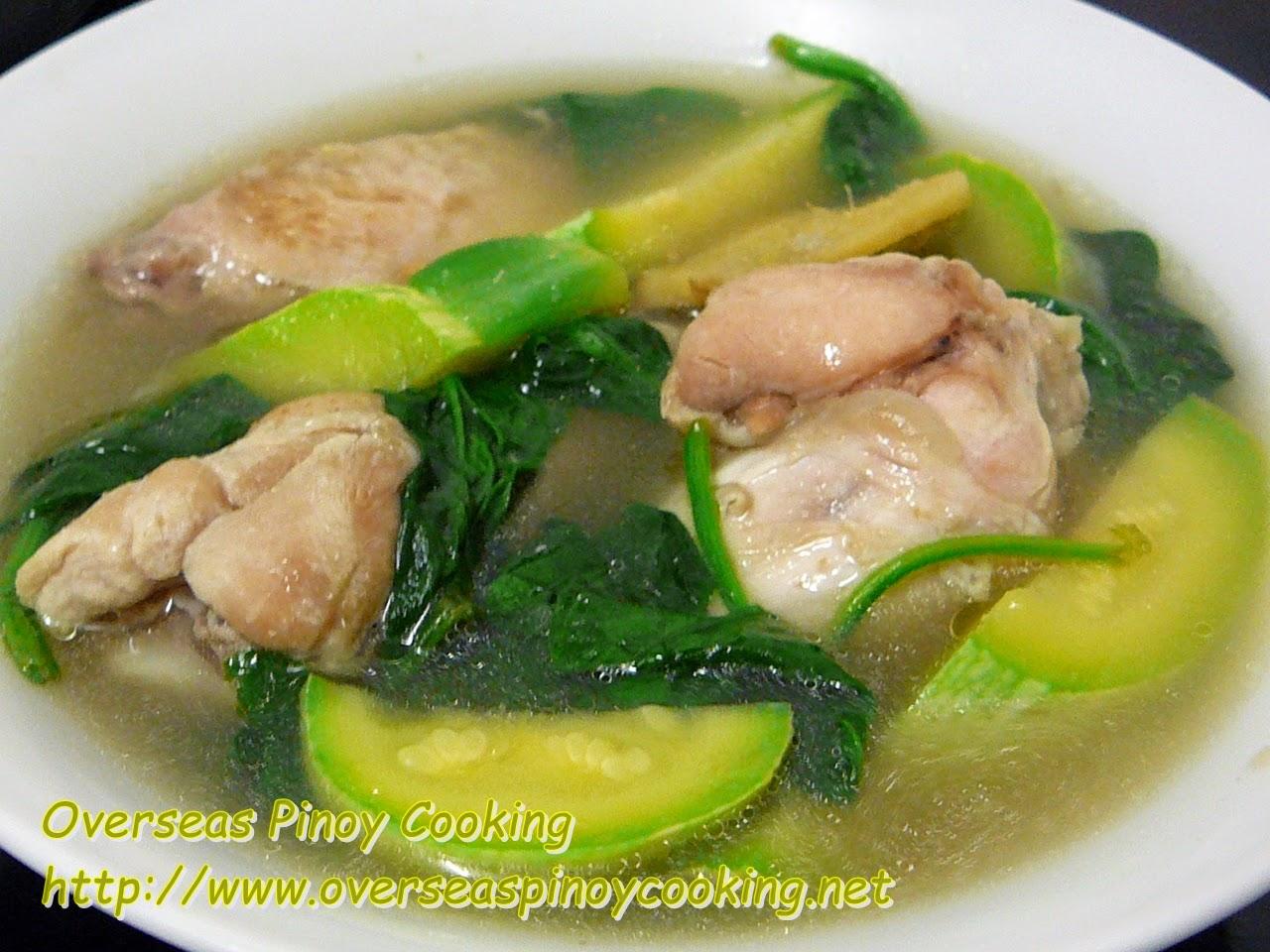 Tinolang Manok with Zucchini