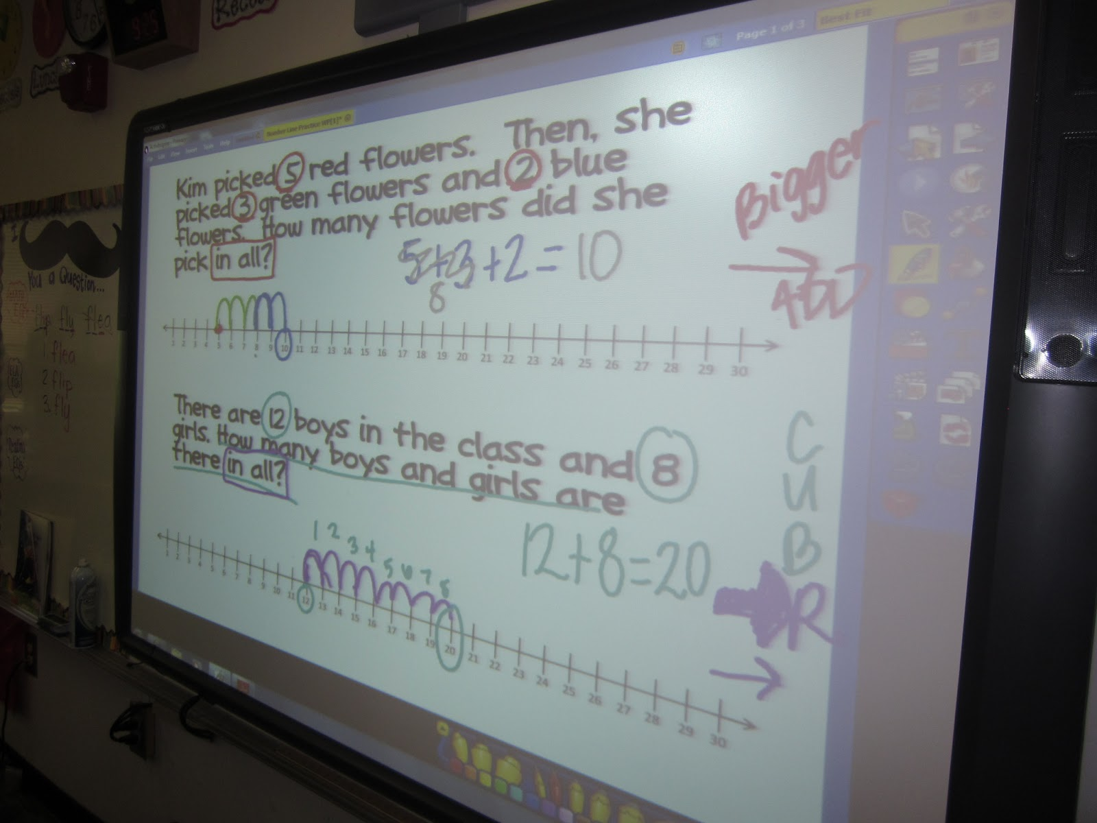 First Grade Fairytales: Number Line Books & Giveaway ReminderWe started with some examples on the Promethean Board.
