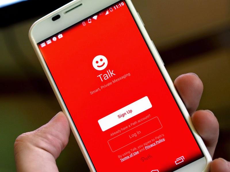 Path Talk, aplicación de mensajería para ios y android