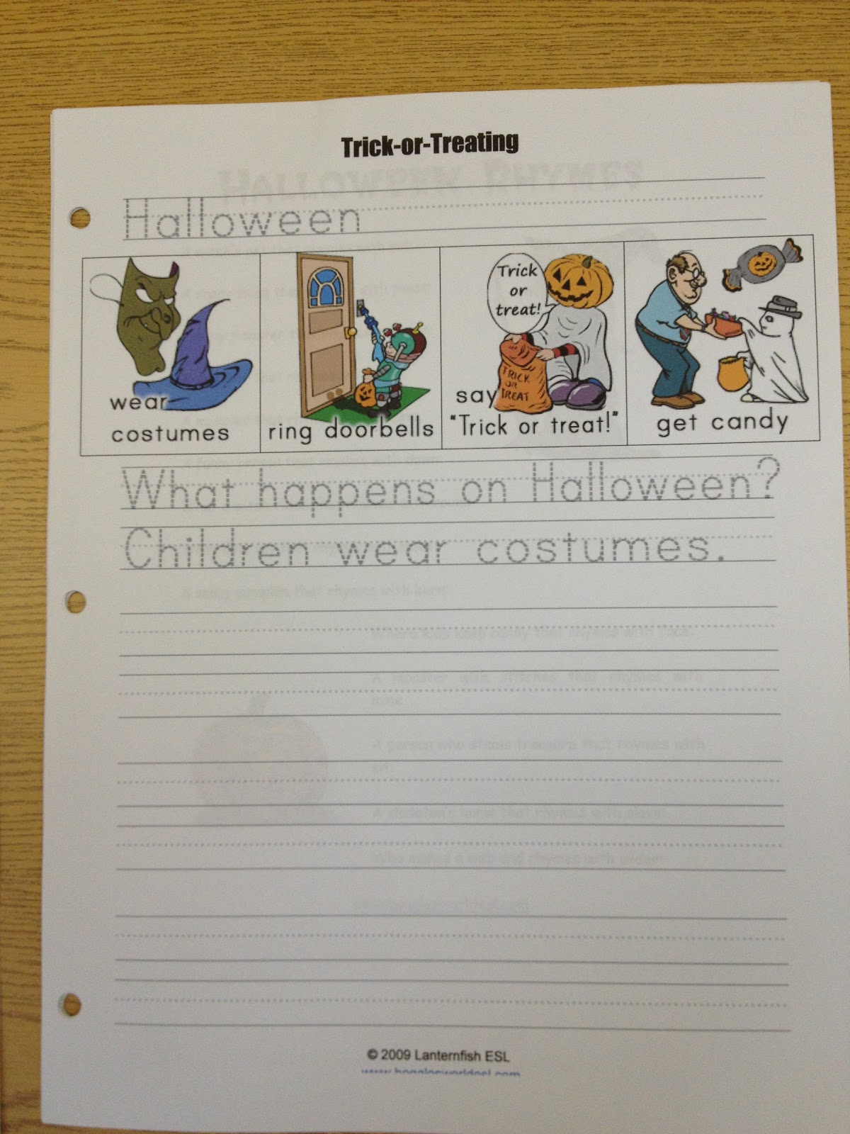 this worksheet is from boggles world esl they have a ton of great worksheets for halloween as well as all the other major holidays - Bogglesworld Halloween